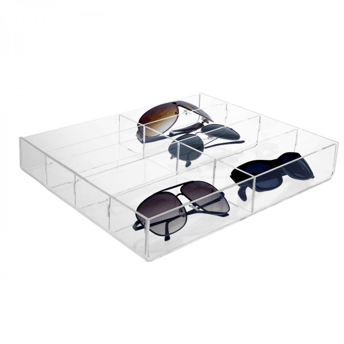 E-323 - Porta occhiali in plexiglass trasparente
