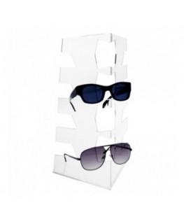 E-324 - Porta occhiali in plexiglass trasparente