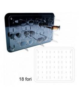 Espositore porta accendini in plexiglass trasparente a 2...