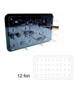 E-327 - Porta occhiali in plexiglass trasparente verticali