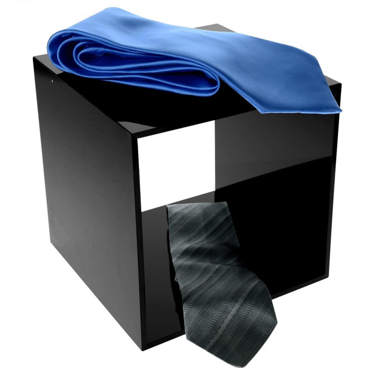 Würfeldisplay aus Plexiglas schwarz