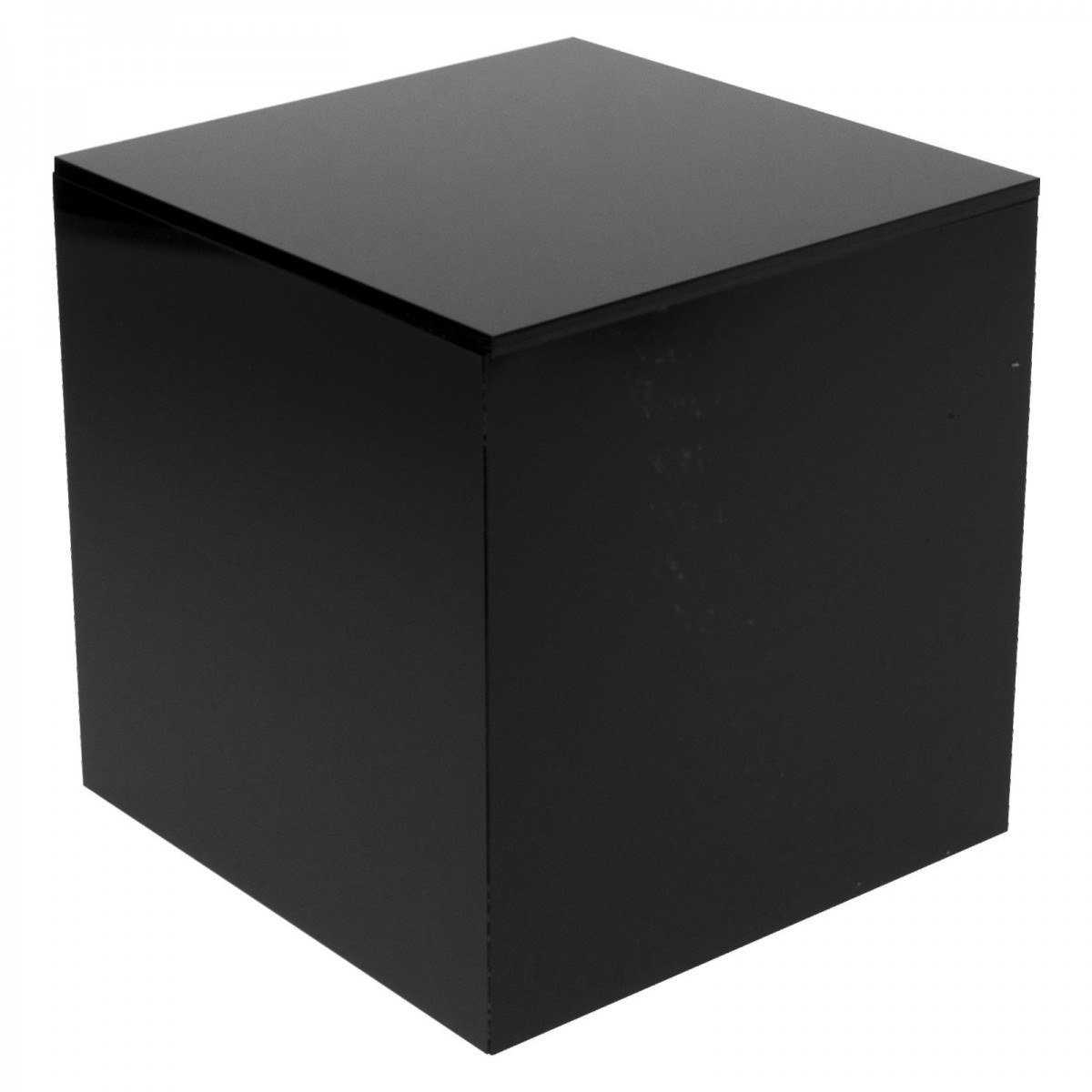 E-334 - Cubo espositore in plexiglass nero 5 lati chiusi - Spessore 5 mm.