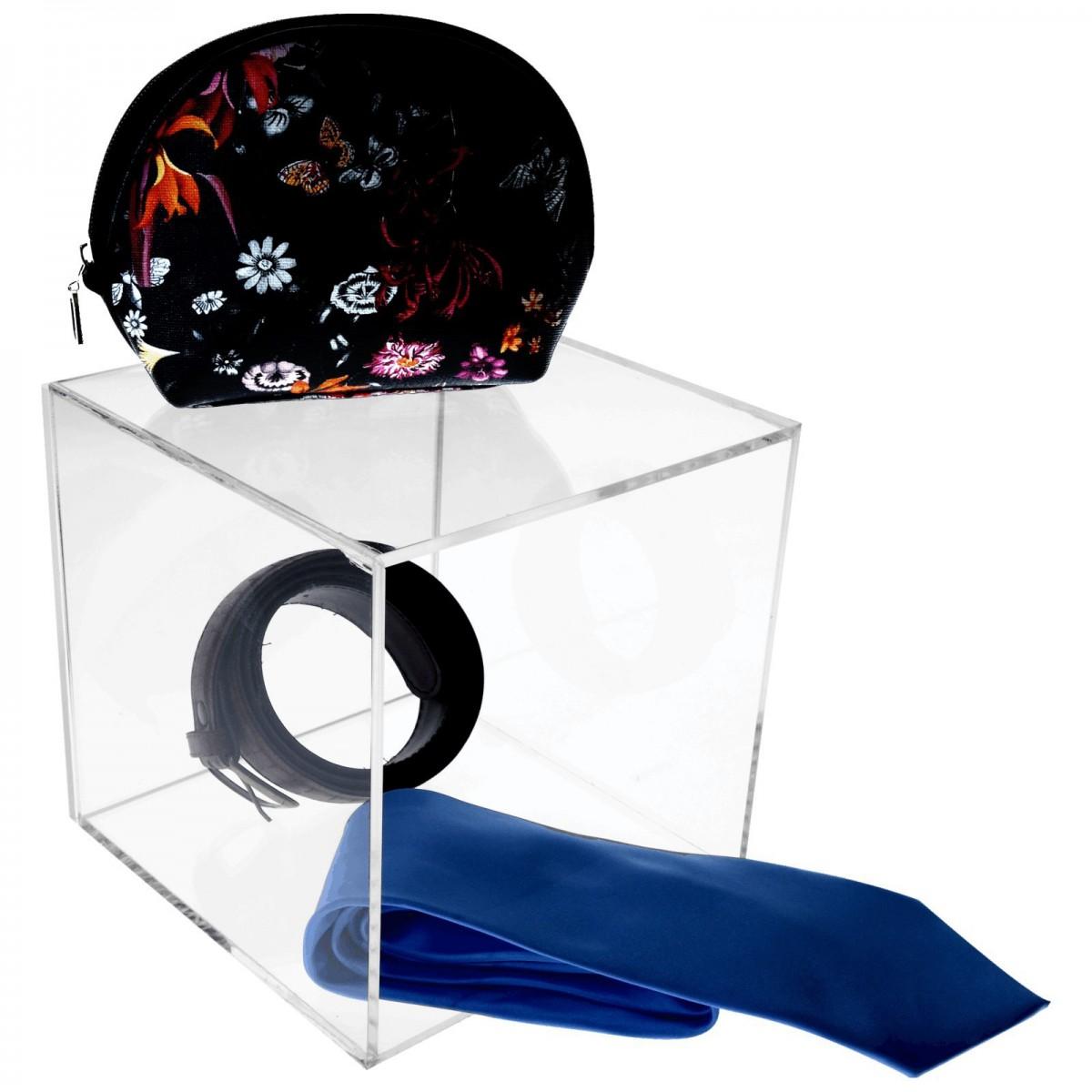 Cube présentoir en acrylique transparent