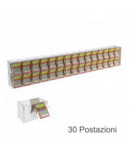 Clear acrylic scratch card holder and a small door facing the seller - Countertop holder or for attachment to ceiling