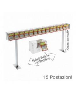 Porta bustine in plexiglass trasparente