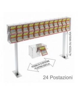 Vassoio porta oggetti in plexiglass bianco - Misure: 10 x...