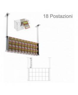 E-392 - Espositore gratta e vinci da soffitto in plexiglass trasparente munito di sportellino frontale lato rivenditore