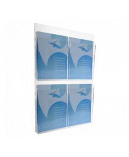 Porta graniglie in plexiglass a due scomparti - Ingombro...