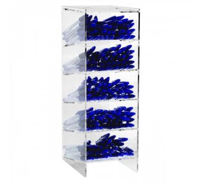 E-410 - Porta penne da banco in plexiglass trasparente