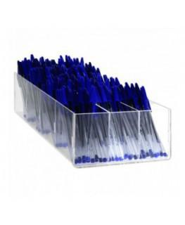 E-412 - Porta penne da banco in plexiglass trasparente