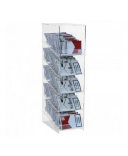 Clear acrylic countertop hand-rolling tobacco display