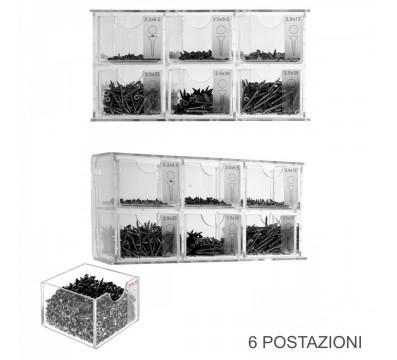E-421 - Espositore porta viti in plexiglass trasparente