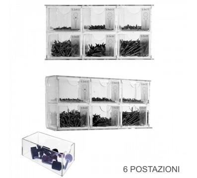 E-422 - Espositore porta viti in plexiglass trasparente
