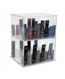 E-426 - Espositore in plexiglass trasparente porta cartine - L 25 x P 20 cm.