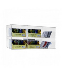 Clear acrylic display for cut tobacco packets,...