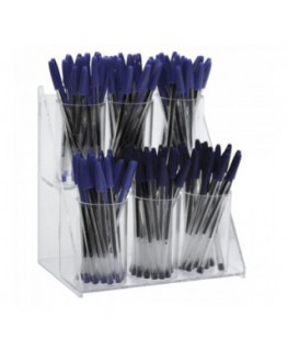 E-428 - Porta penne da banco in plexiglass trasparente