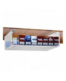 E-431 - Espositore in plexiglass trasparente da soffitto porta sigarette da 20