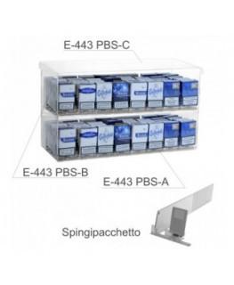E-443 - Espositore in plexiglass trasparente da banco porta sigarette da 20 - L 50 x P 30 cm.