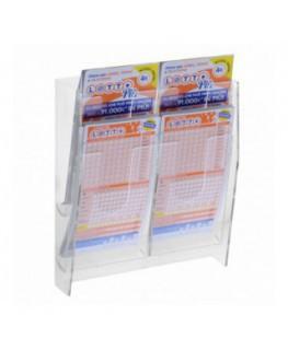 E-480 - Espositore porta schedine e gratta e vinci da parete in plexiglass trasparente