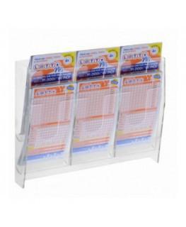 E-481 - Espositore porta schedine e gratta e vinci da parete in plexiglass trasparente