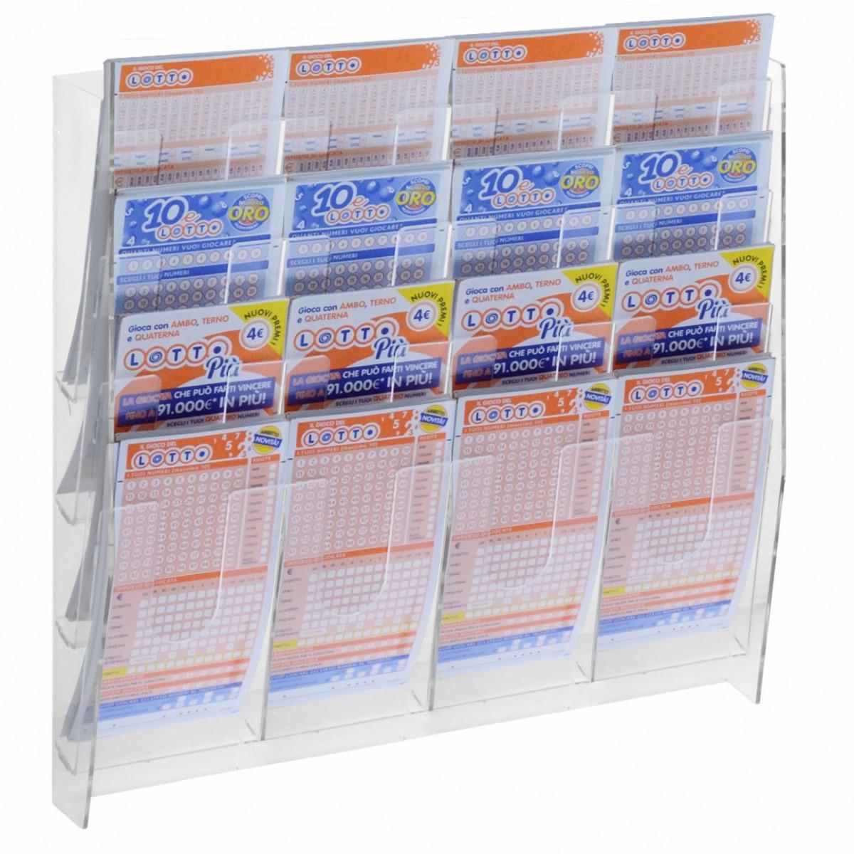 Espositore porta cartoline da parete in plexiglass - Porta cartoline ...