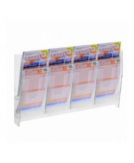 E-482 - Espositore porta schedine e gratta e vinci da parete in plexiglass trasparente