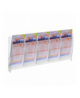 E-483 - Espositore porta schedine e gratta e vinci da parete in plexiglass trasparente