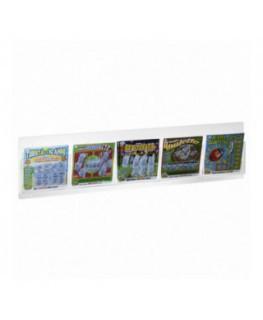 E-492 - Espositore schedine e gratta e vinci da parete in plexiglass trasparente