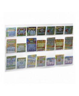 Espositore porta viti in plexiglass trasparente a 6 cassetti