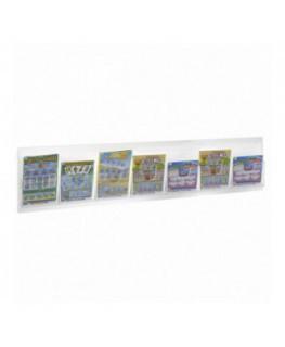 E-493 - Espositore schedine e gratta e vinci da parete in plexiglass trasparente
