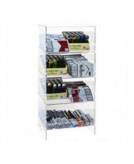 Porta cravatte in plexiglass trasparente a 9 scomparti