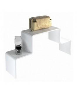 Scaletta in plexiglass bianco