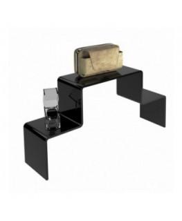 Scaletta in plexiglass nero - Spessore 5 mm.