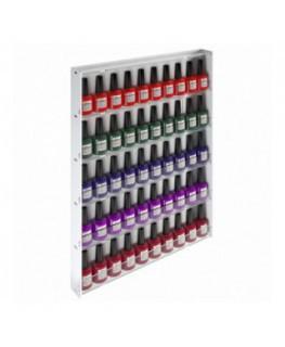 E-566 - Espositore vetrinetta da parete per Make Up con Pannello Laterale Bianco - Larghezza 39 cm.