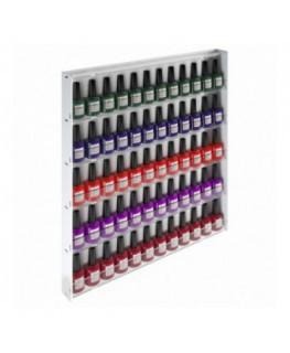 E-569 - Espositore vetrinetta da parete per Make Up con Pannello Laterale Bianco - Larghezza 47 cm.