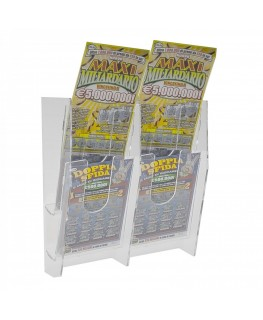 Clear acrylic wall mounted bet slip and scratch card holder