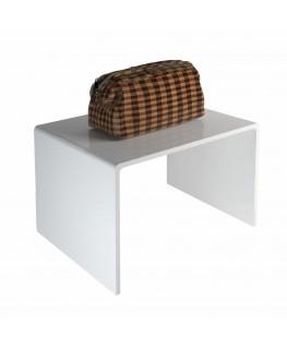 Tavolino plexiglass bianco