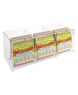 Acrylic countertop scratch and win card holder display –without locking door
