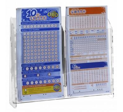 Expositor de boletos de lotería para mostrador