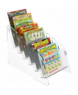 Clear acrylic countertop scratch card display