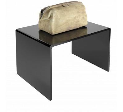 Tavolino plexiglass nero
