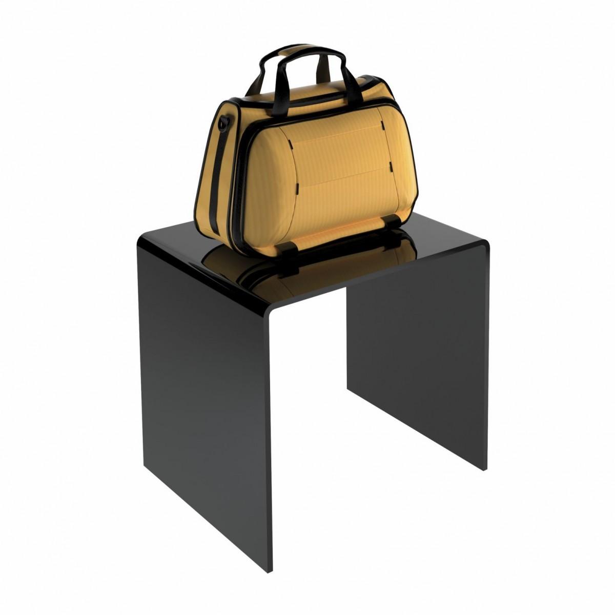 Tavolino plexiglass nero - CM(LxPxH): 12x10x10