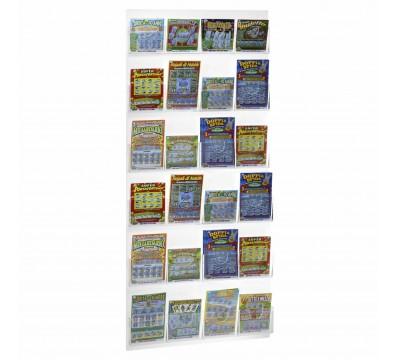 Présentoir mural jeux de tirage et billets à gratter réalisé en plexiglass