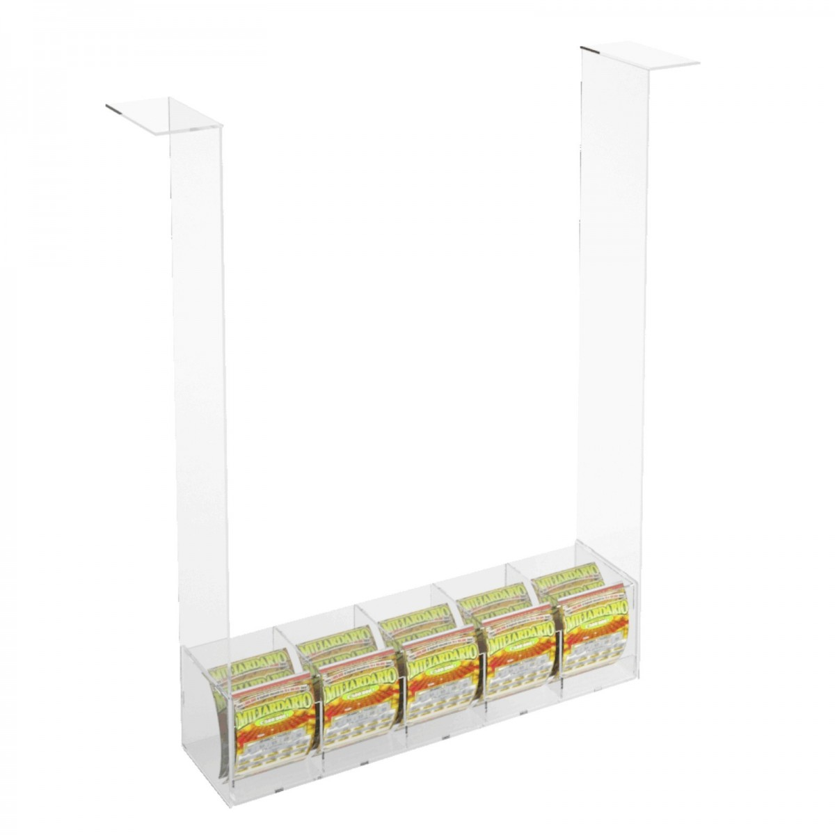 Acrylic countertop scratch and win card holder display without locking door
