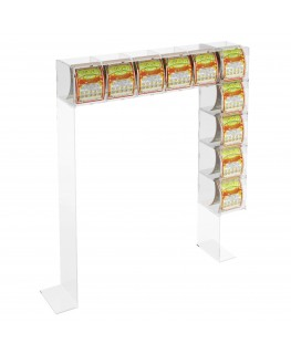 Acrylic countertop scratch and win card holder display...