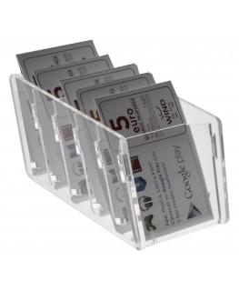 Thekedisplay für Guthabenkarten aus Plexiglas transparent