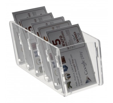 Acrylic countertop phone card display case