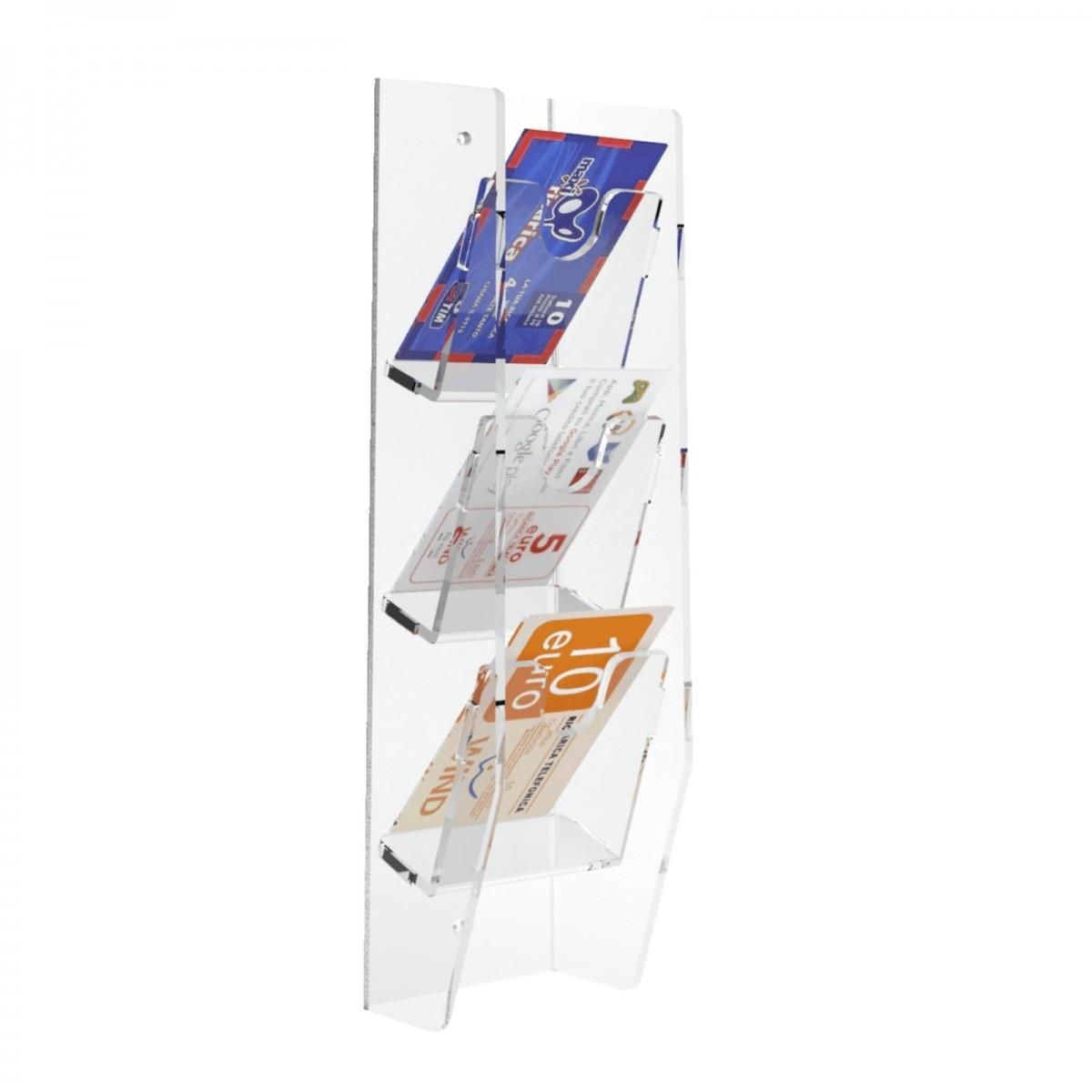 Expositor de pared para tarjetas telefónicas