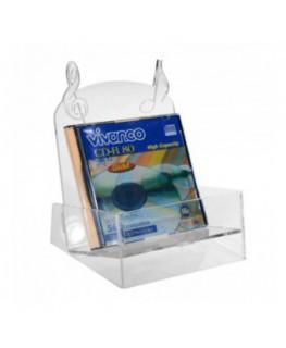 E-010 PCD - Porta CD in plexiglass trasparente con possibilità di inserire fino a 9 CD