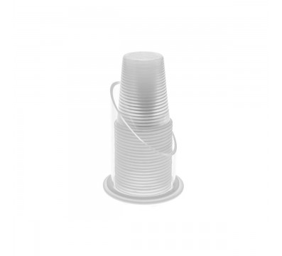 Circular clear acrylic paper cup dispenser